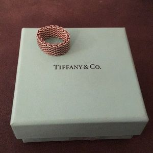 Tiffany and Co sterling mesh ring